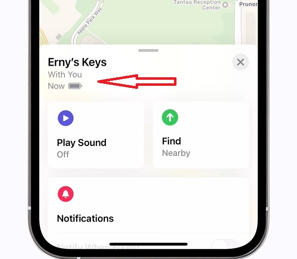 Track AirTag's battery - AirTag Battery Life