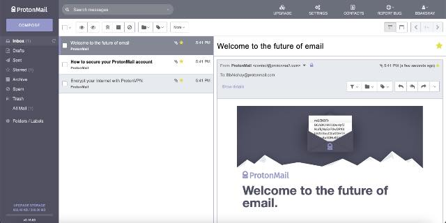 protonmail best free email providers