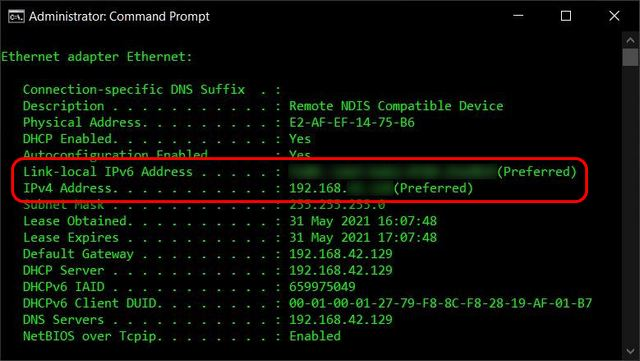 Find Your IP Address on Windows Command Prompt
