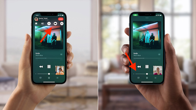 FaceTime shared controls