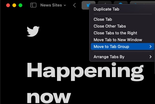 Move to tab group