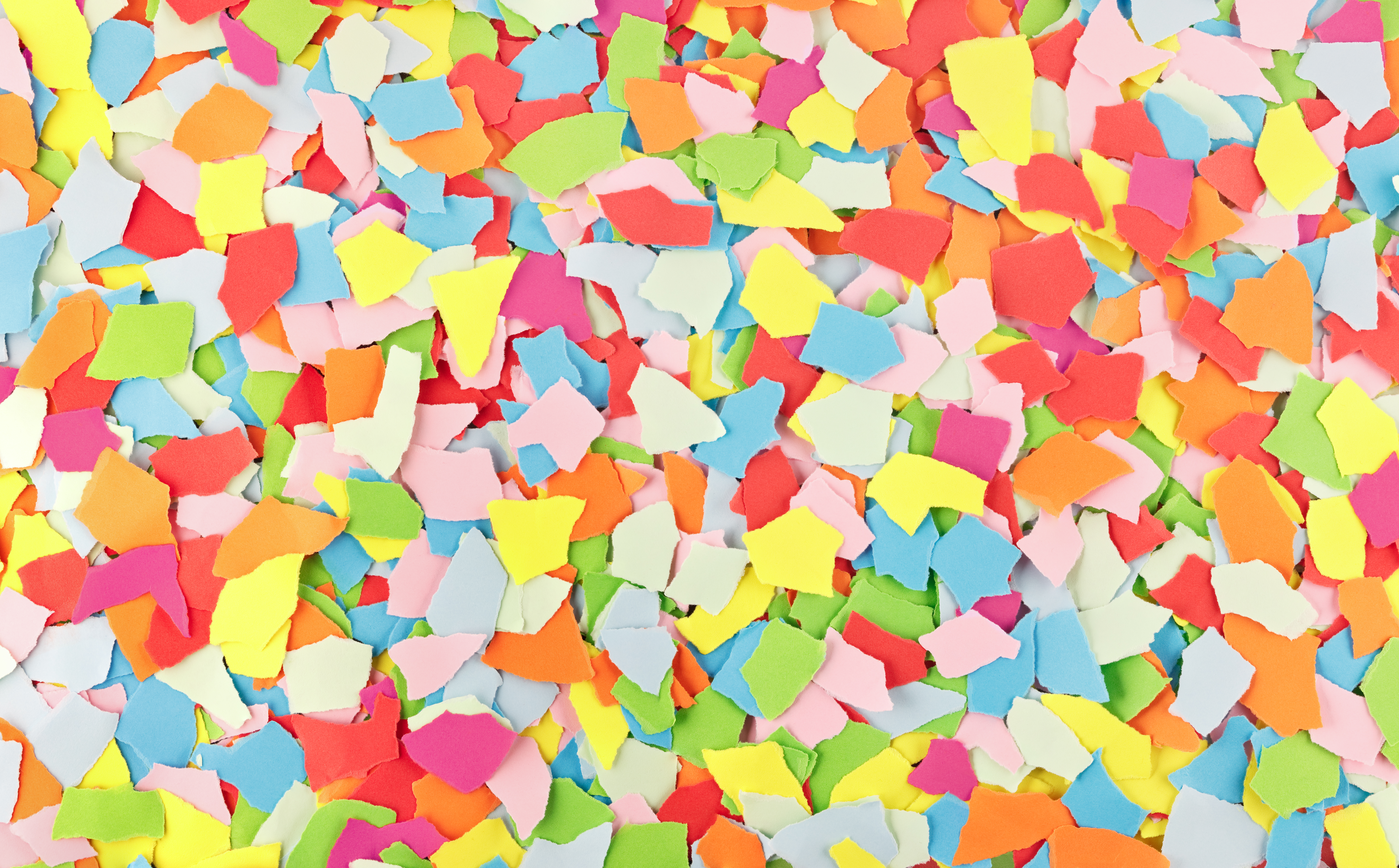 Image of colorful scraps of torn paper to represent snippets.
