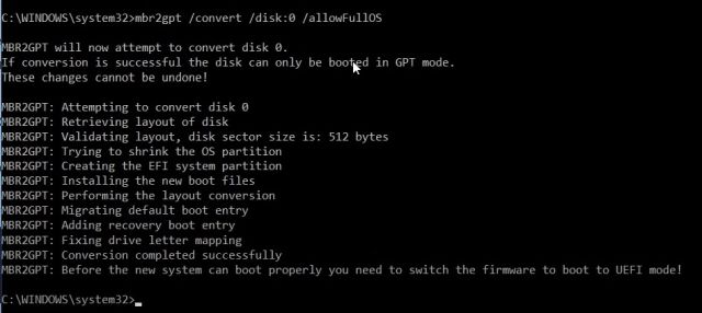Convert MBR to GPT Without Data Loss on Windows 10