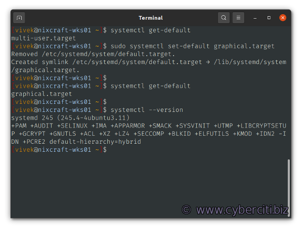 Changing Systemd Boot Target in Linux To GUI