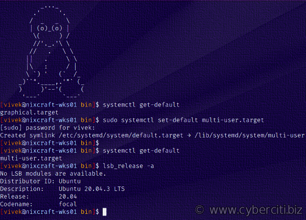 How to switch boot target to text or GUI in systemd Linux