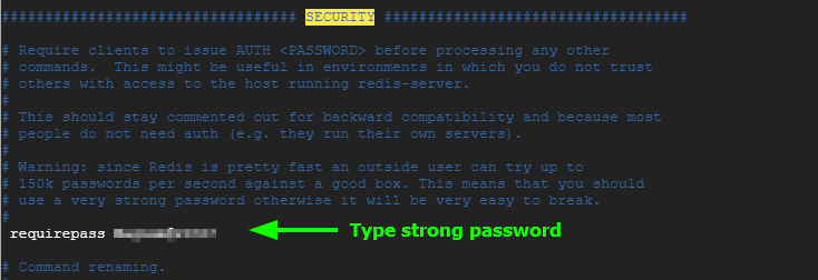 Secure Redis with password